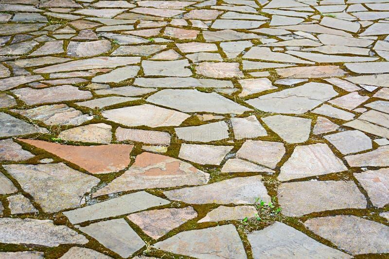 石路面的片段 石纹理背景  库存照片