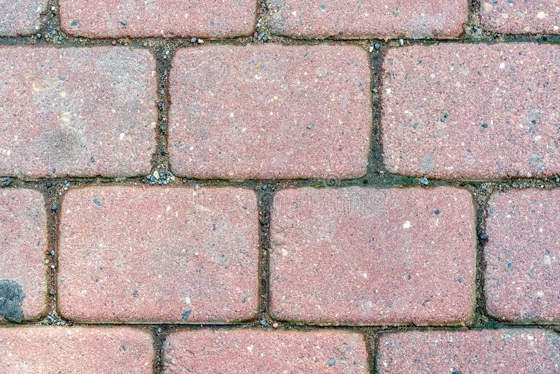 石路面的片段 免版税库存图片