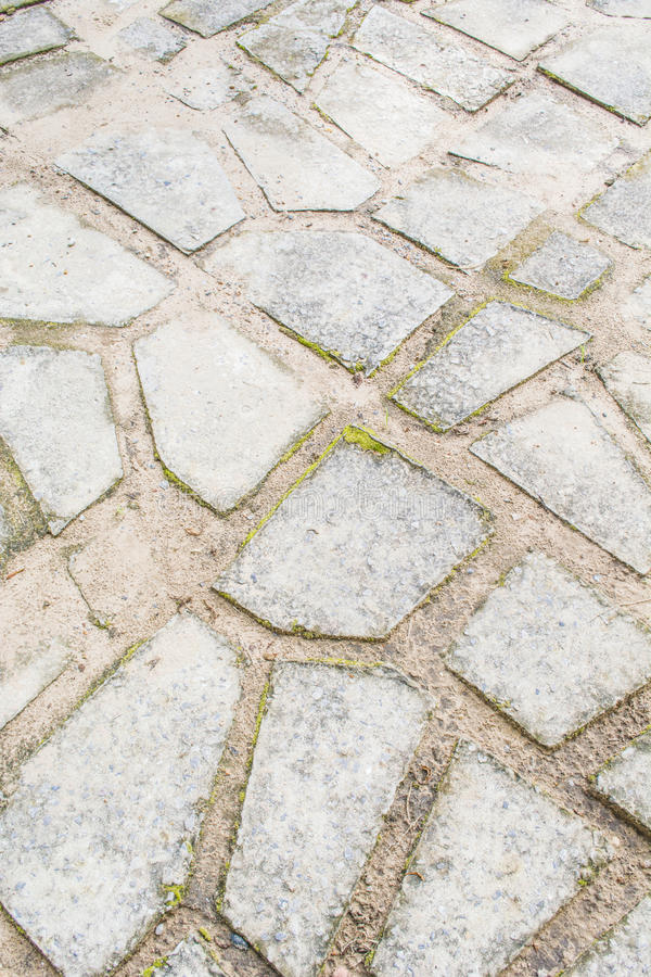 石道路步行方式 免版税库存照片