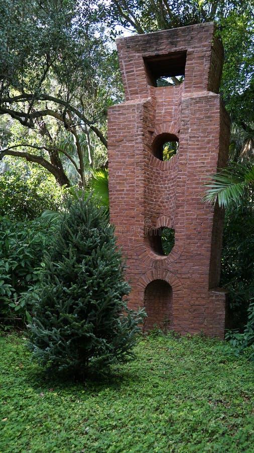 石雕塑,安诺顿雕塑庭院,西棕榈海滩,佛罗里达 库存照片
