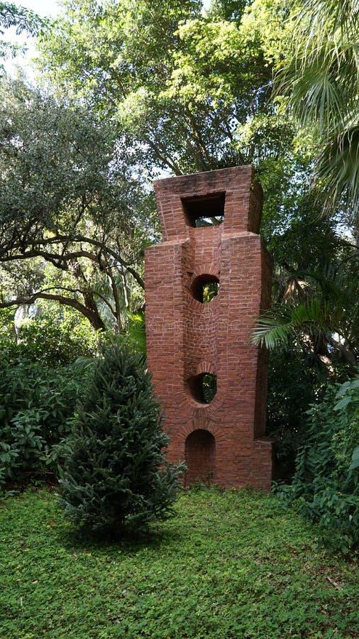 石雕塑,安诺顿雕塑庭院,西棕榈海滩,佛罗里达 库存图片