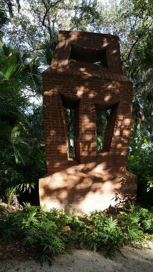 石雕塑,安诺顿雕塑庭院,西棕榈海滩,佛罗里达 免版税图库摄影