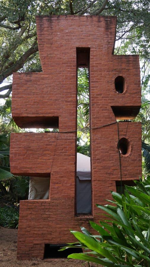 石雕塑,安诺顿雕塑庭院,西棕榈海滩,佛罗里达 免版税库存图片