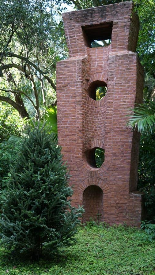 石雕塑,安诺顿雕塑庭院,西棕榈海滩,佛罗里达 免版税库存照片