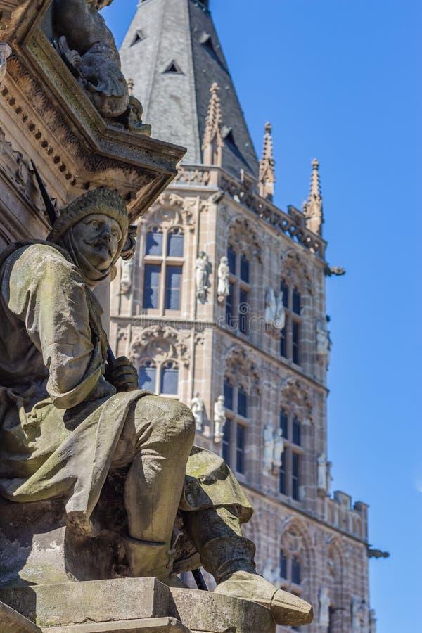 石雕象在科隆德国 免版税图库摄影