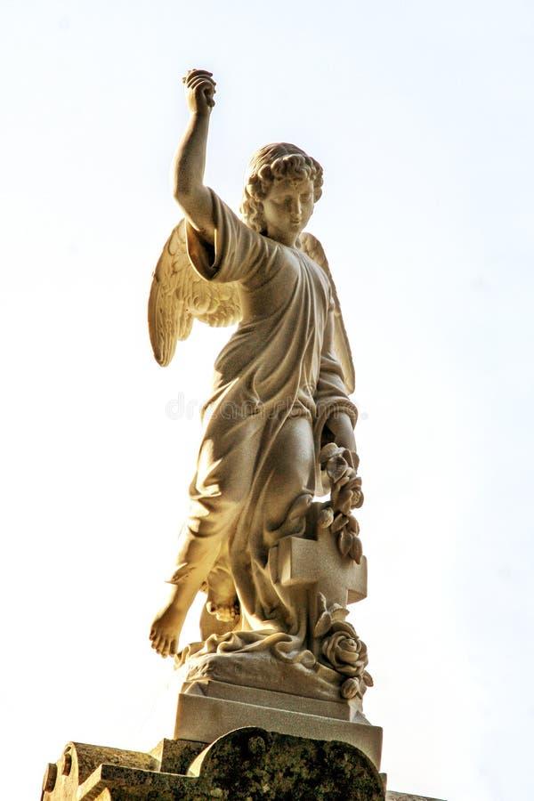 石雕象天使 免版税库存照片