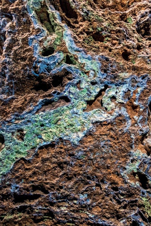 石青和绿沸铜石纹理 免版税库存图片