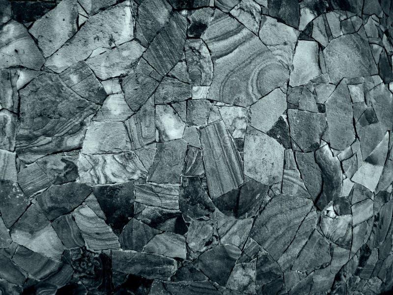 石马赛克墙壁  免版税库存图片