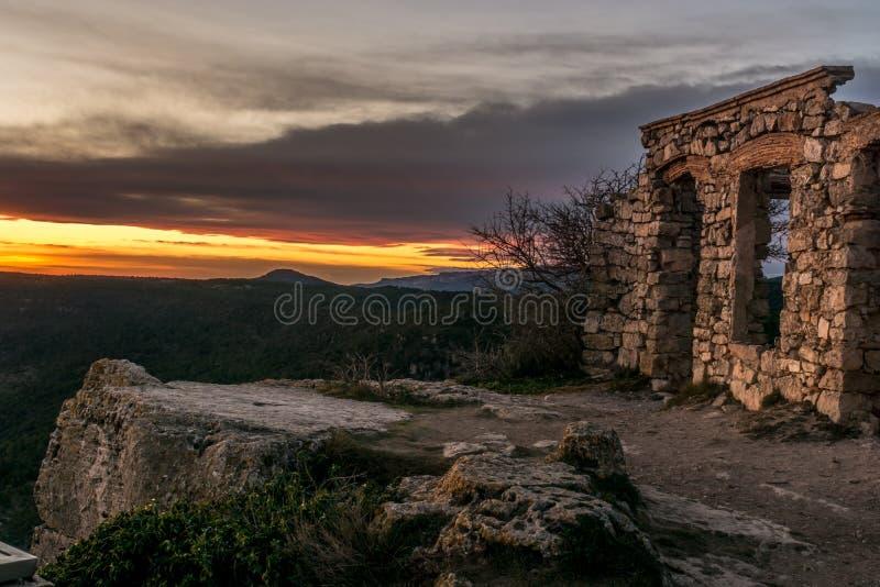 石头一个老房子的Mussara废墟  免版税库存图片