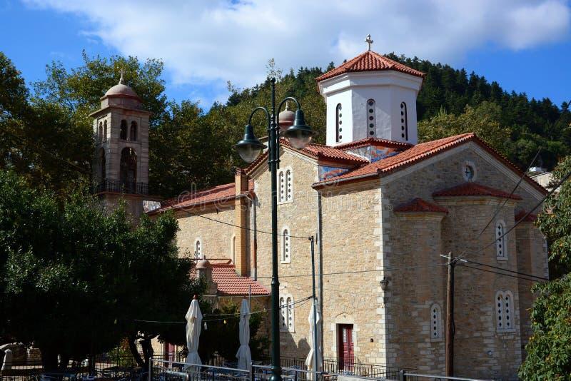 石头典型的教会  图库摄影