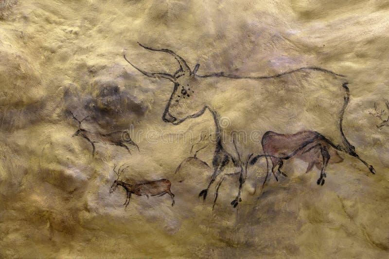 石洞壁画 向量例证