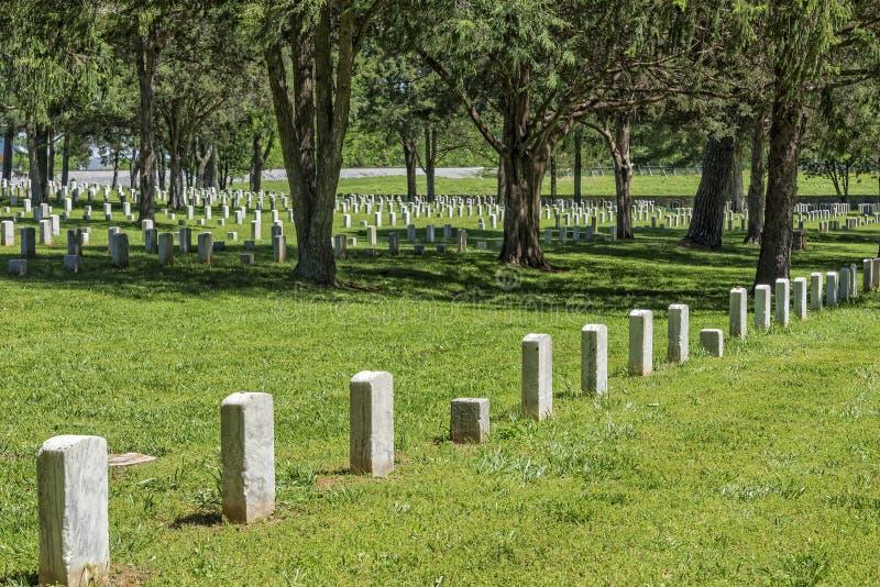 石头河国家公墓在Murfreesboro田纳西 免版税库存图片