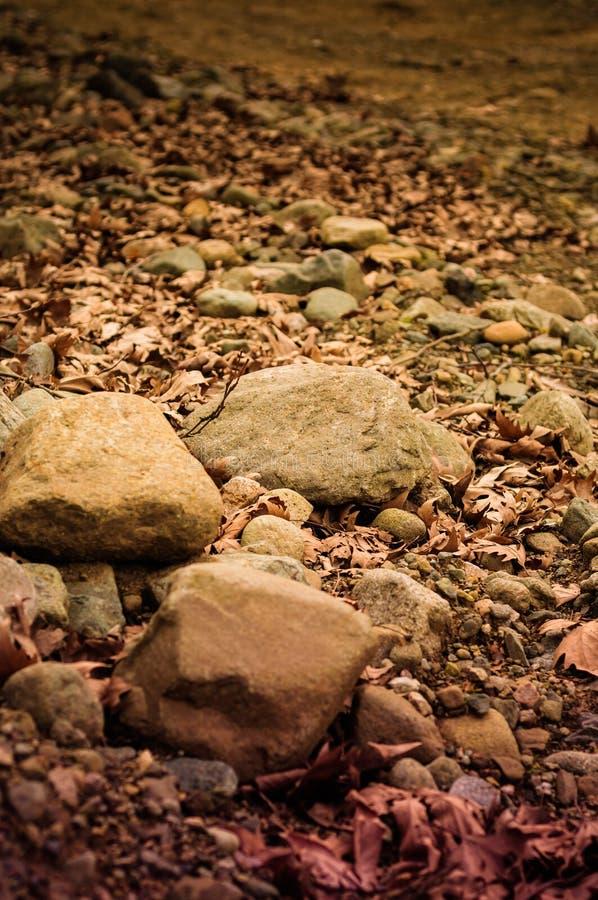 石头盖了道路 免版税库存图片