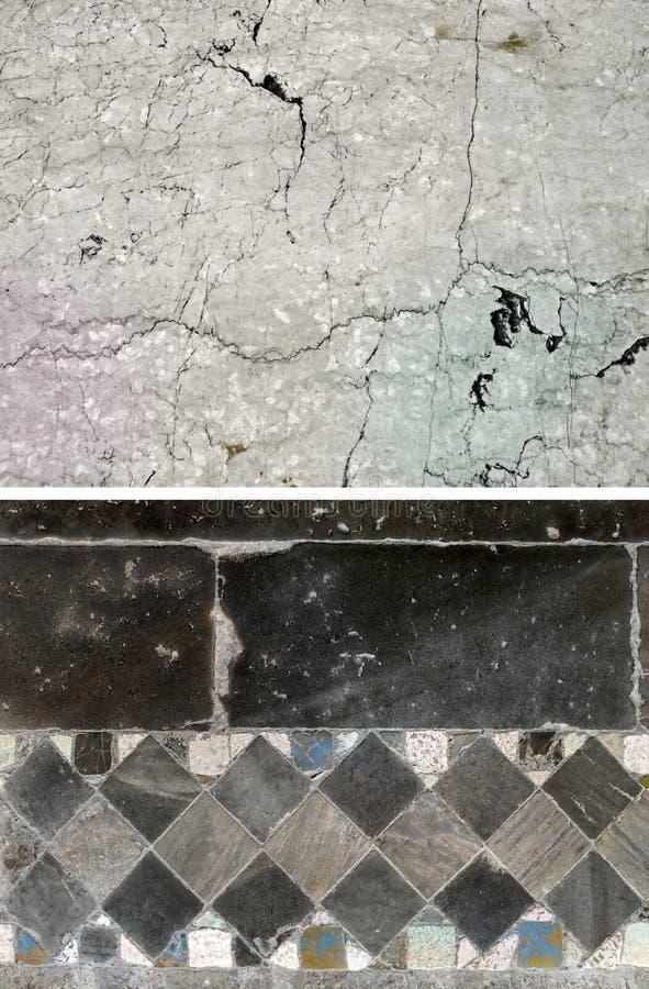 石头背景 套2个元素 免版税库存照片