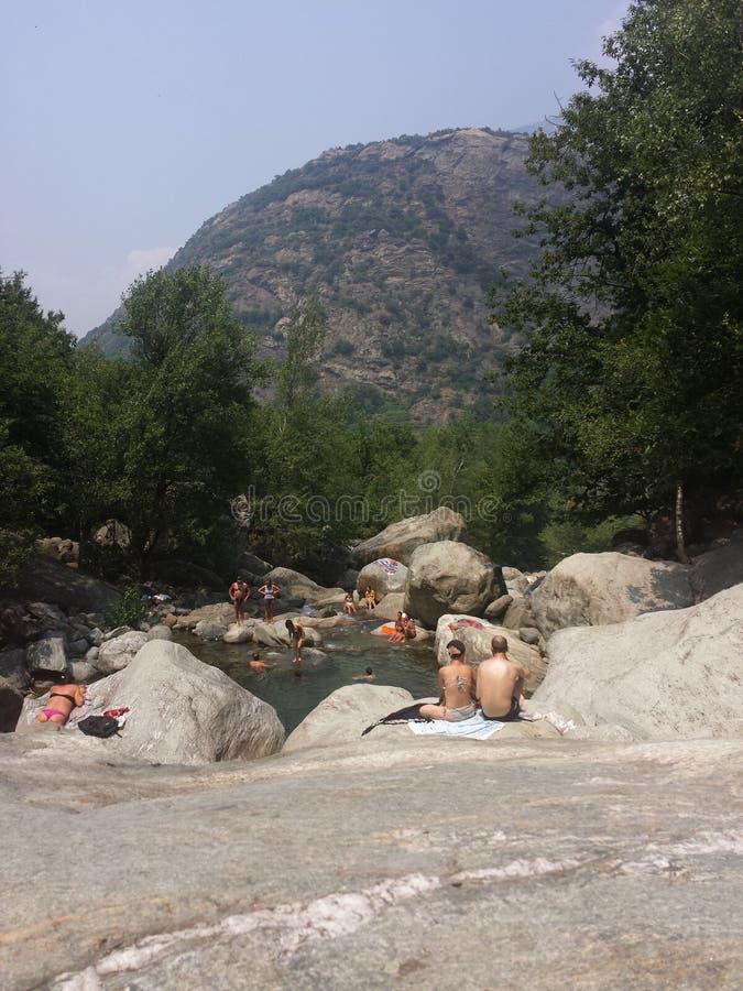 水&石头 库存图片