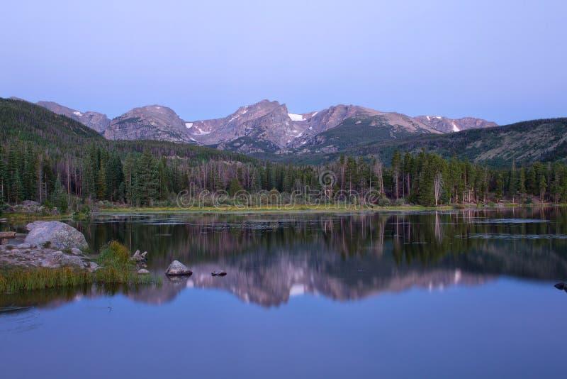 洛矶山国家公园的Sprague湖 免版税库存照片