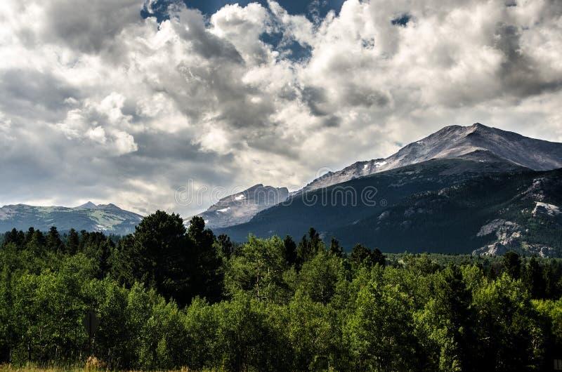 洛矶山国家公园Estes公园,科罗拉多 免版税库存照片