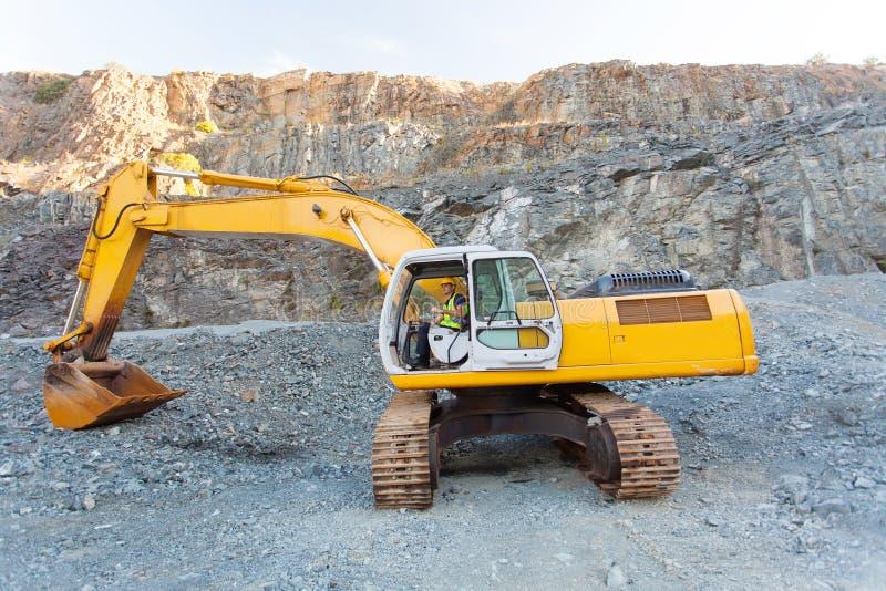 矿业工作者挖掘机 免版税库存图片