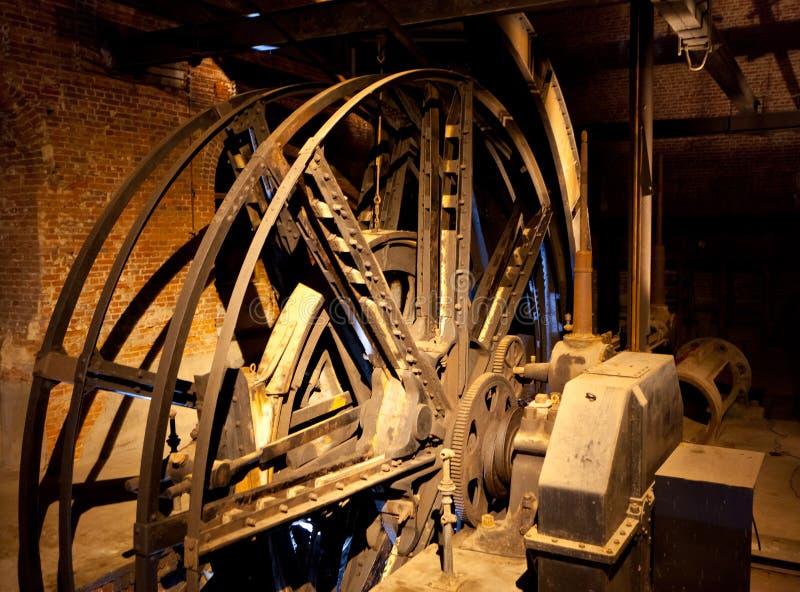 矿井的电梯的引擎 免版税库存照片