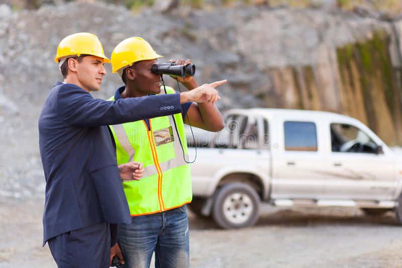 矿山经理工头 免版税图库摄影