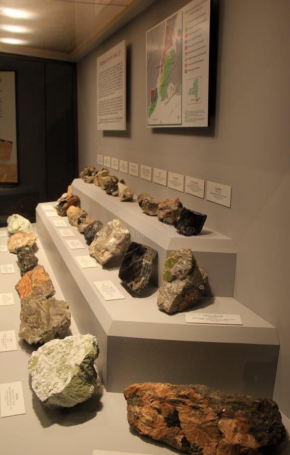 矿物和宝石,状态博物馆,阿尔巴尼,纽约品种的汇集, 2017年 库存图片