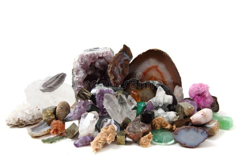 矿物收藏 免版税图库摄影