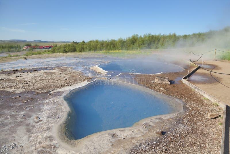 矿物温泉Blesi在地热区域 免版税库存照片