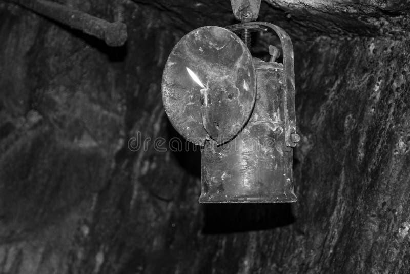 矿用电石灯或者乙炔煤气灯 免版税库存照片