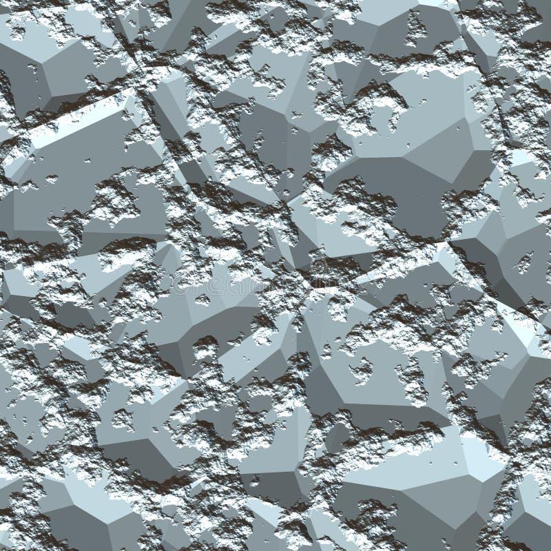 矿石粗砺的银 向量例证
