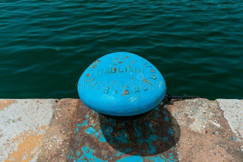 码头在卡利亚里港口 免版税库存照片