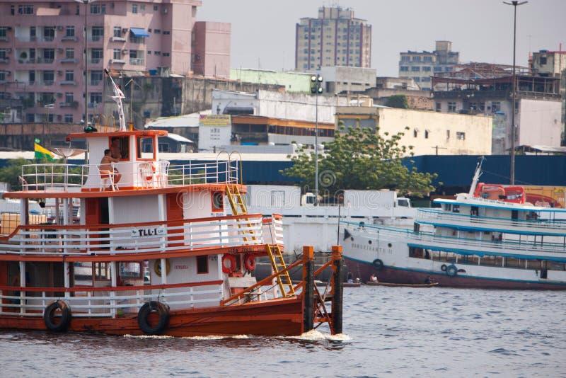 码头在马瑙斯 免版税库存图片