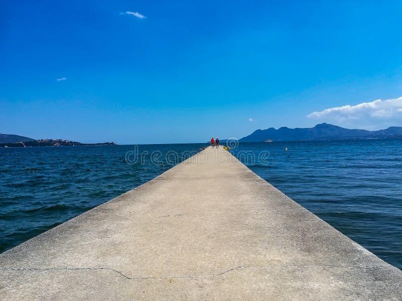 码头在马略卡 库存图片