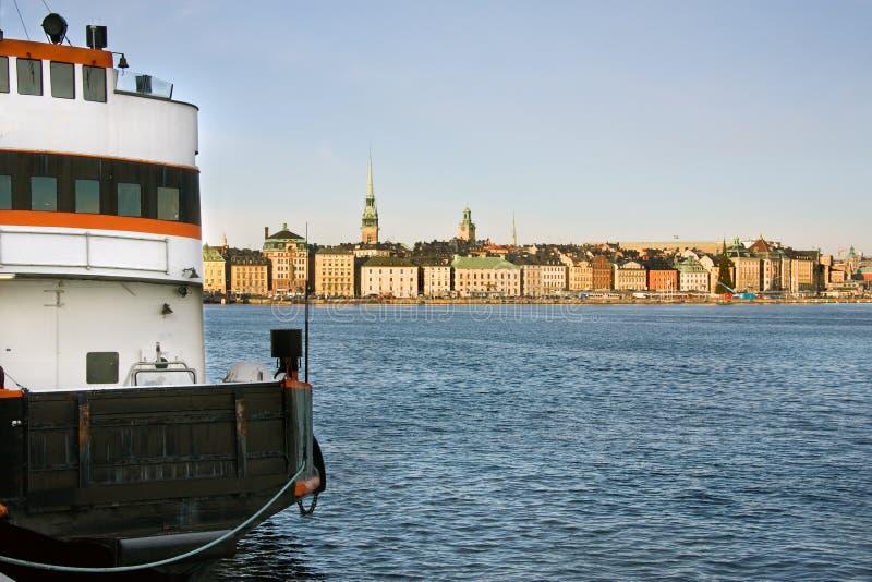 码头斯德哥尔摩 免版税库存照片