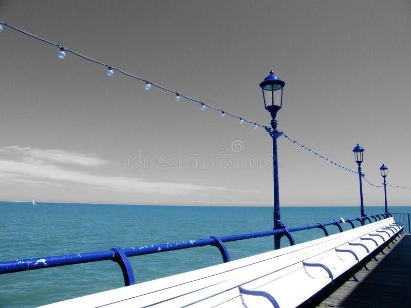 码头海运视图 免版税库存照片