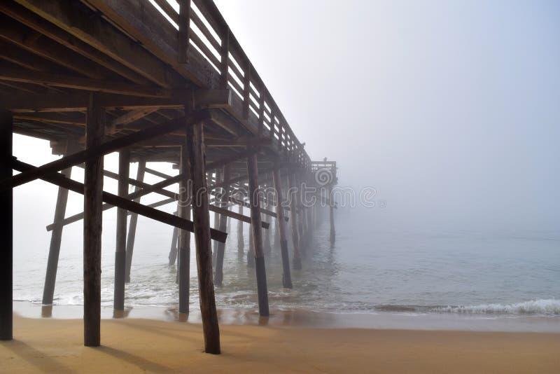 码头消失入雾 免版税图库摄影