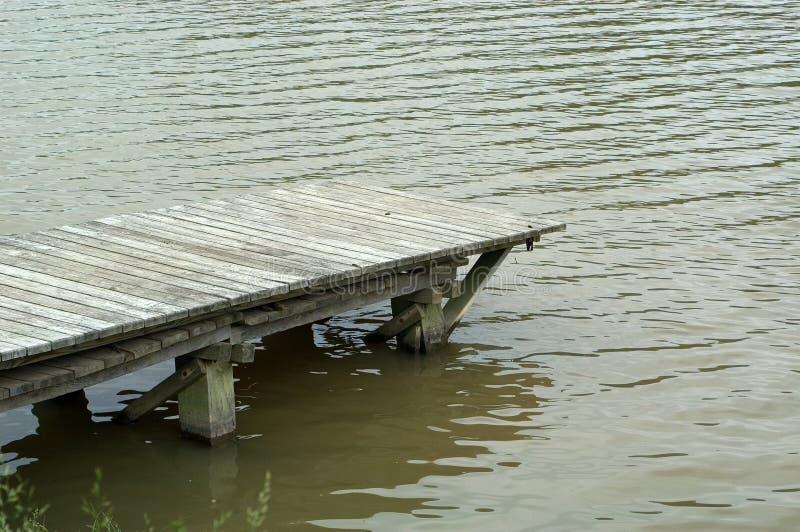 码头湖 免版税库存照片