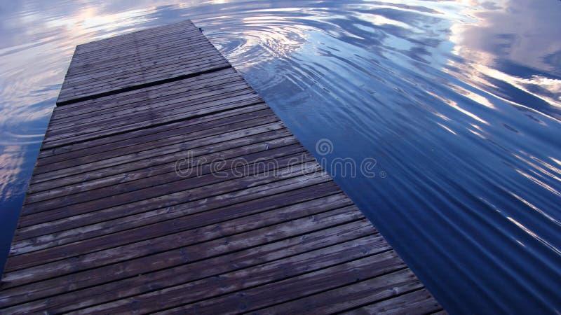 码头起波纹水 免版税库存图片