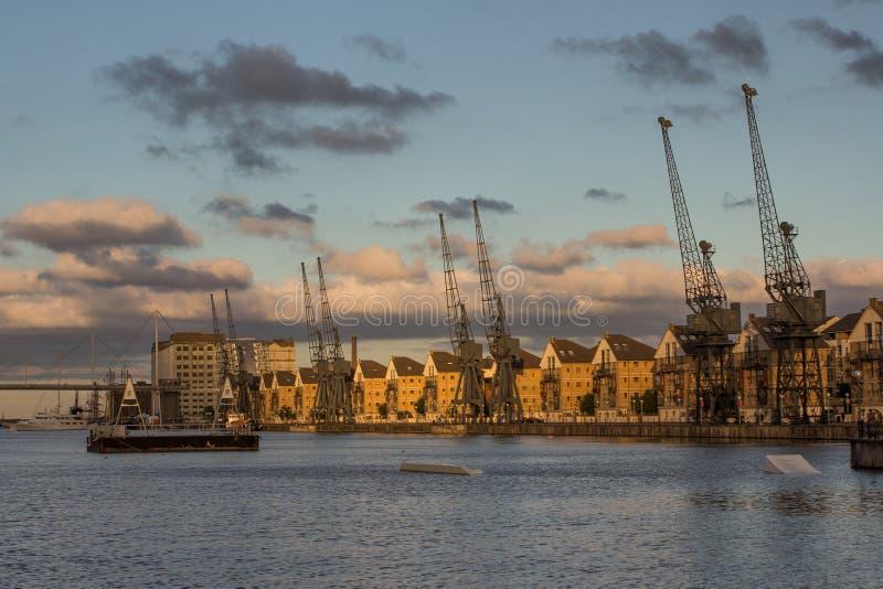 码头伦敦皇家维多利亚 图库摄影