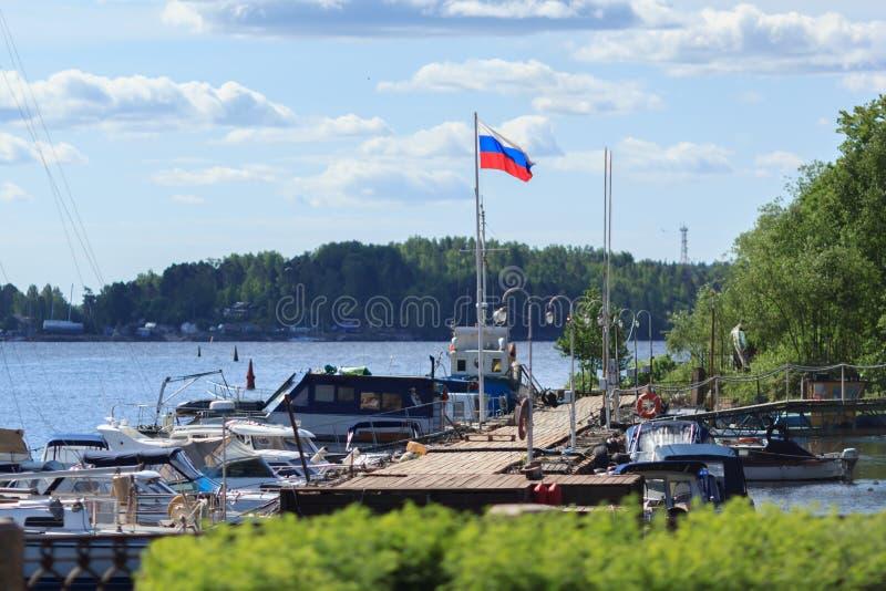 码头和散步 免版税图库摄影