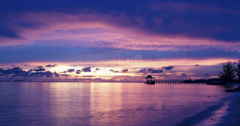 码头和海滩 库存照片