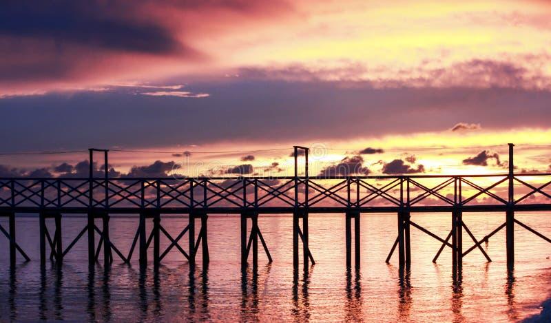 码头和美丽的天空 库存图片