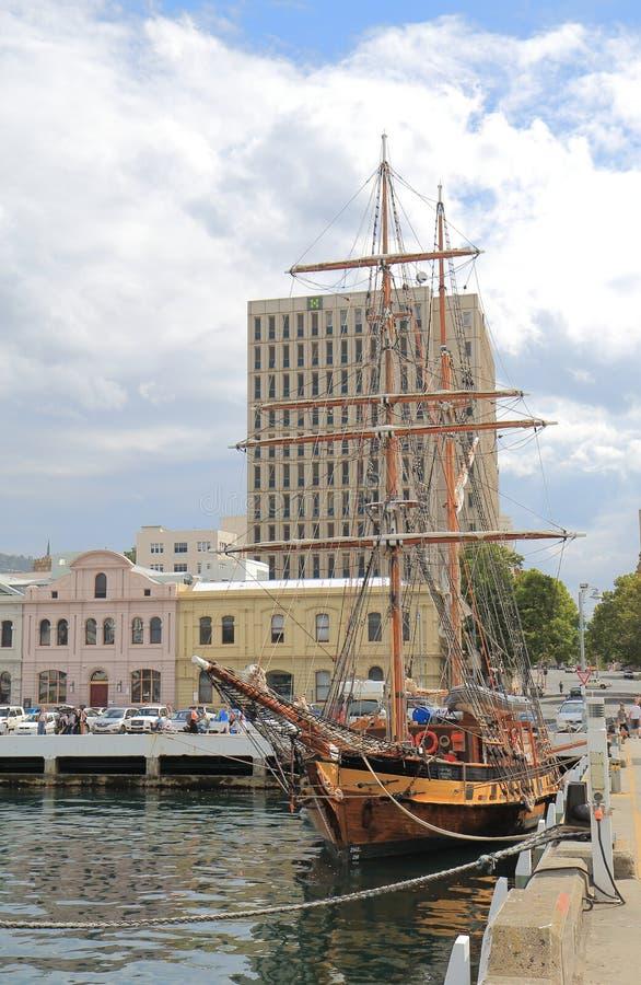 码头在霍巴特澳大利亚 库存图片