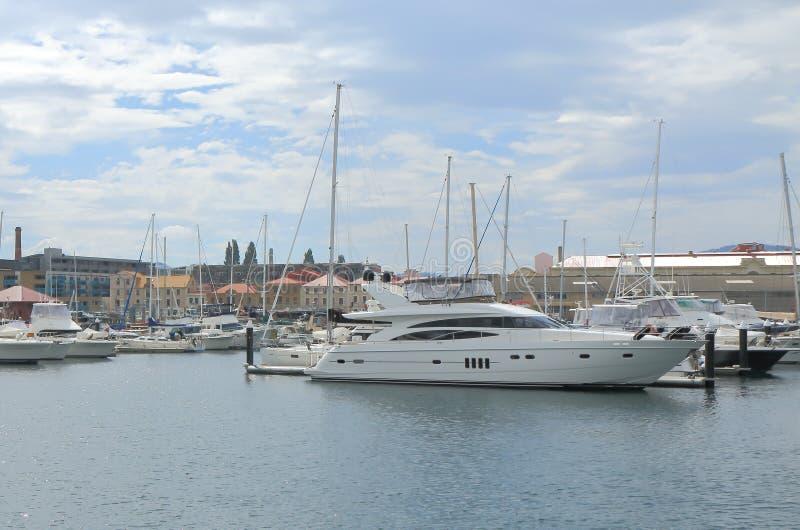 码头在霍巴特澳大利亚 库存照片