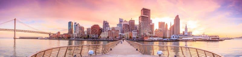 从码头14的旧金山视图 图库摄影