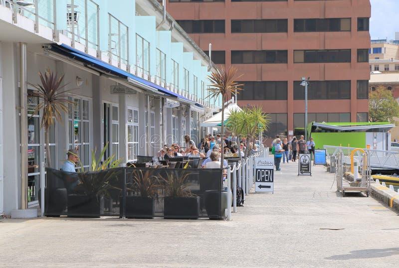 码头的霍巴特餐馆 图库摄影