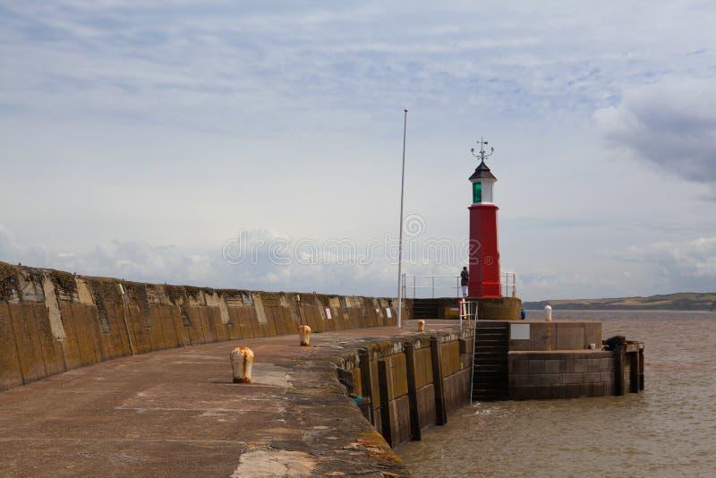 码头跳船和港口, Watchet,英国 免版税库存照片