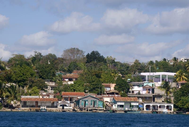 码头,西恩富戈斯海湾,古巴 图库摄影