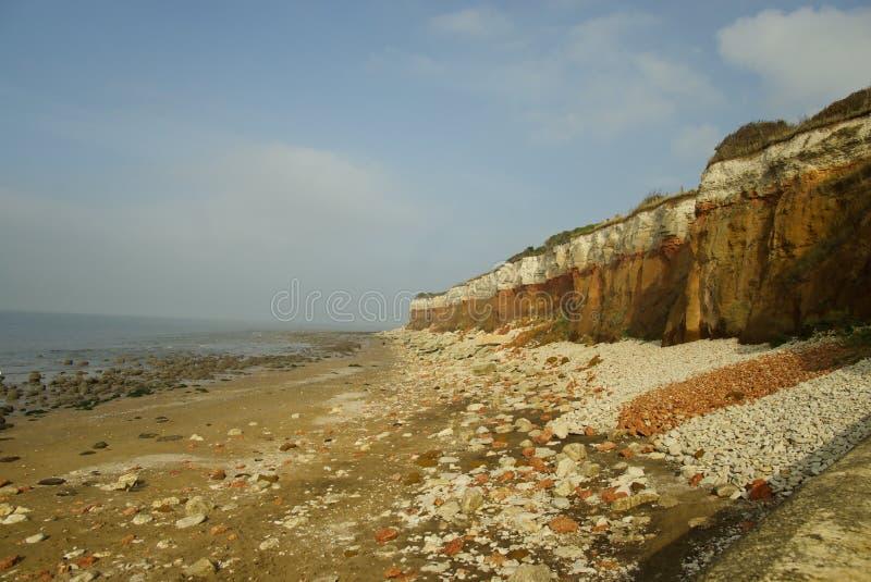 砂岩和石灰石峭壁 库存图片