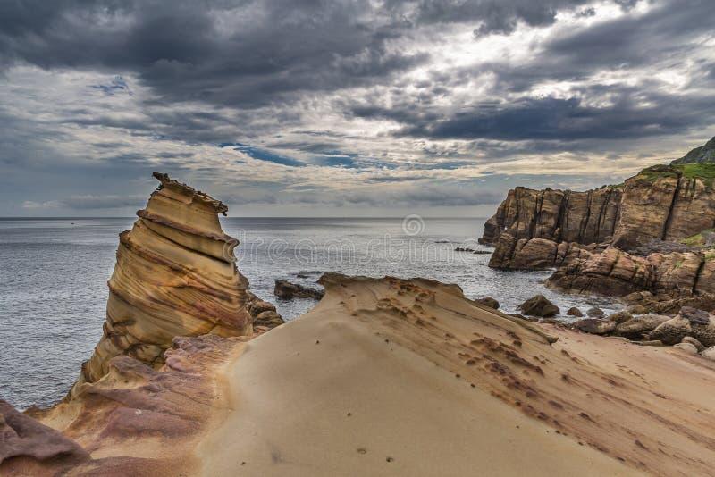 砂岩峭壁 库存照片