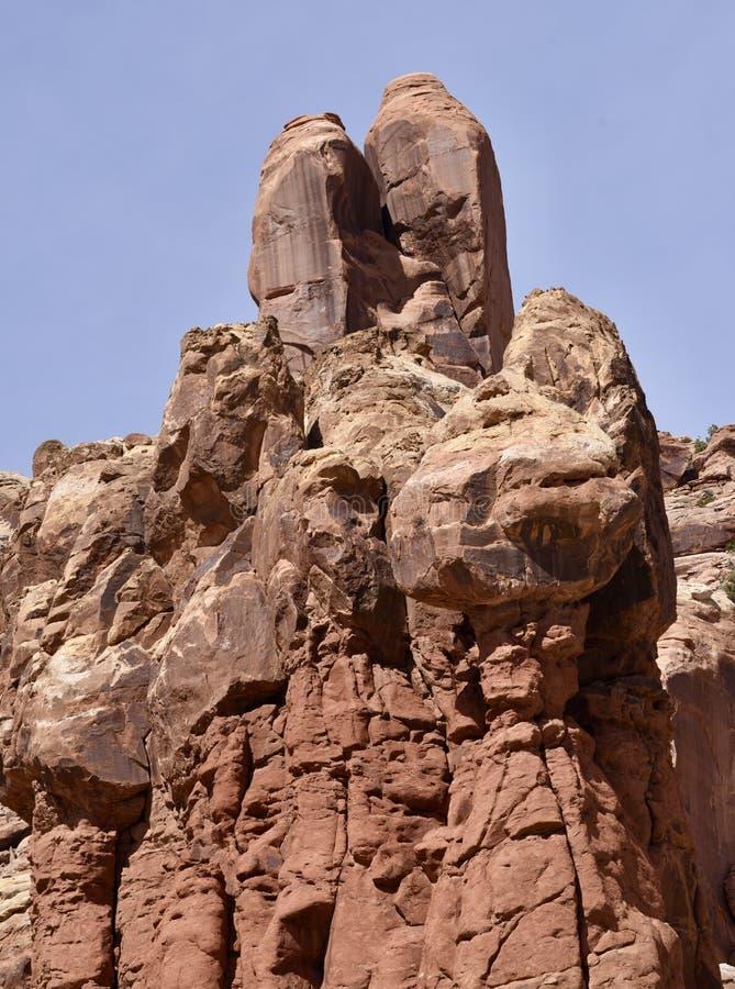 砂岩形成在拱门国家公园#1 免版税库存图片